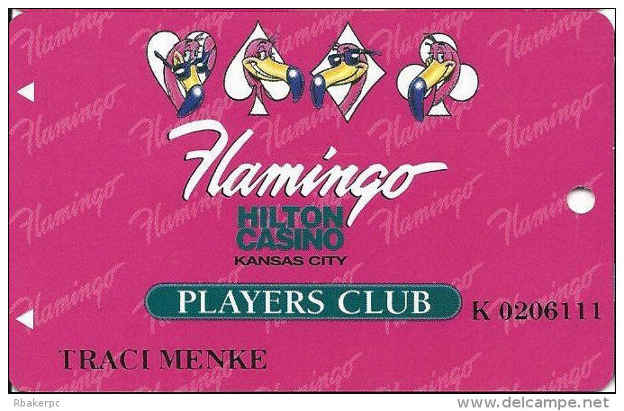 Flamingo Casino Kansas City - 4th Issue Slot Card - Kansas City In White Add In Reverse Logo - Casino Cards