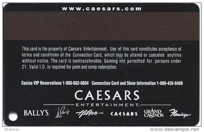 Flamingo Hilton Casino Lauglin, NV - Slot Card - Caesars Web Address - Casino Cards
