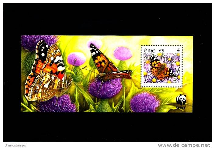 IRELAND/EIRE - 2005  WWF  BUTTERFLIES  MS   MINT NH - Blocchi & Foglietti