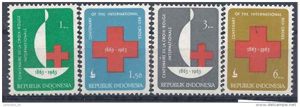 1963 INDONESIE 338-41 ** Croix-rouge - Indonesia