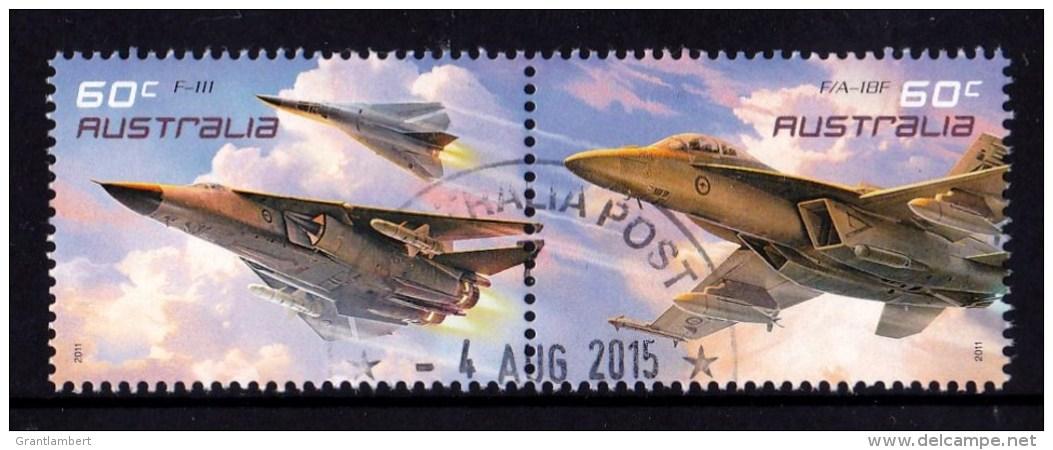 Australia 2011 Air Force Aviation 60c Pair CTO - 2010-... Elizabeth II