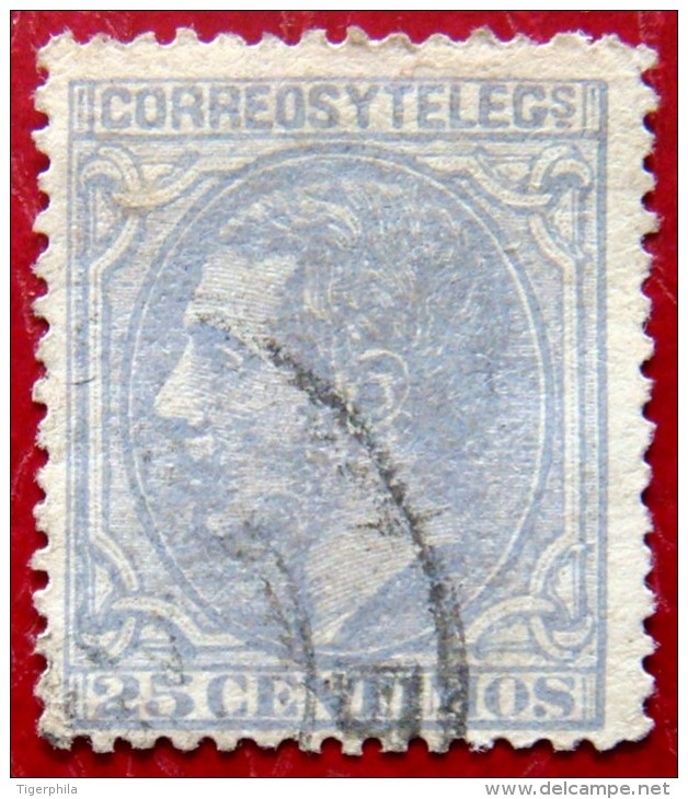 SPAIN 1879 25c Alfonso XII Used - 1875-1882 Königreich: Alphonse XII.