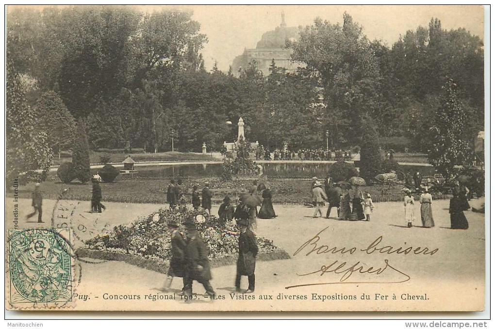 DEP 43 LE PUY EN VELAY CONCOUR REGIONNALE DE 1903  JARDINS FLEURI ? - Le Puy En Velay