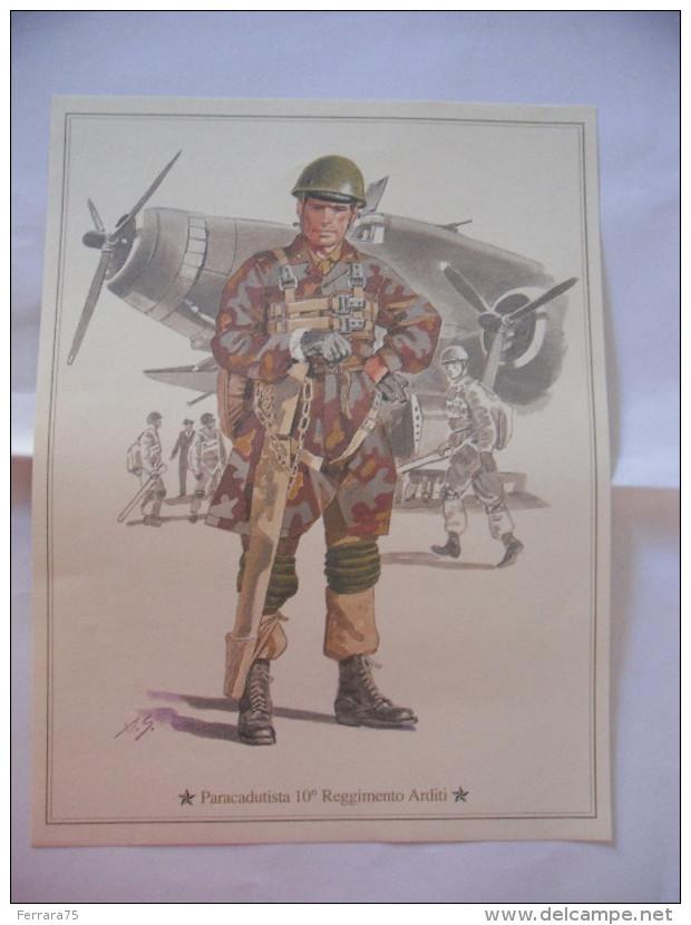 STAMPA UNIFORME SOLDATO PARACADUTISTA 10°REGGIMENTO ARDITI. - Militari