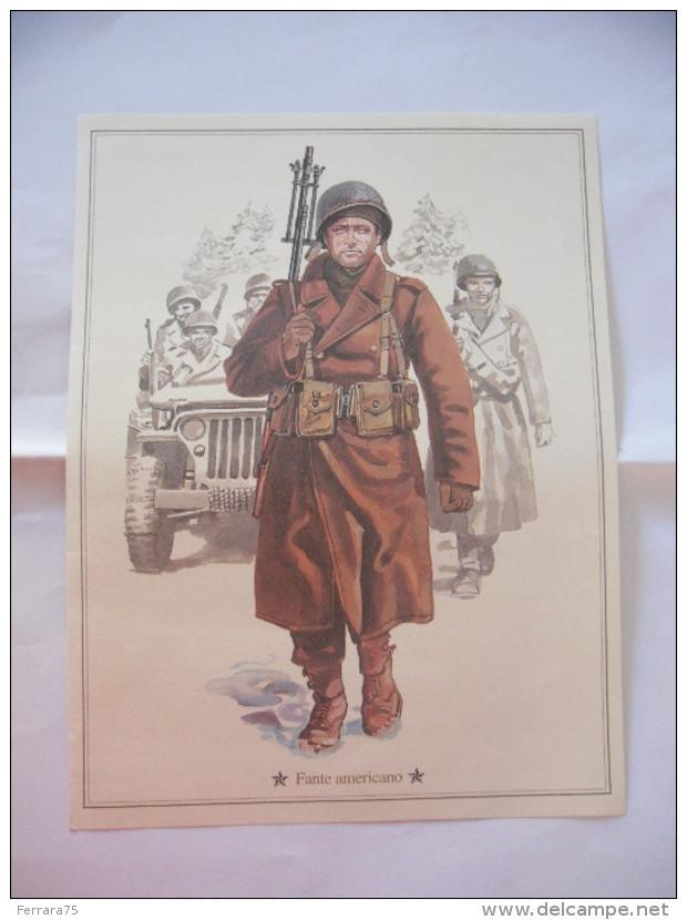 STAMPA UNIFORME FANTE AMERICANO. - Militari