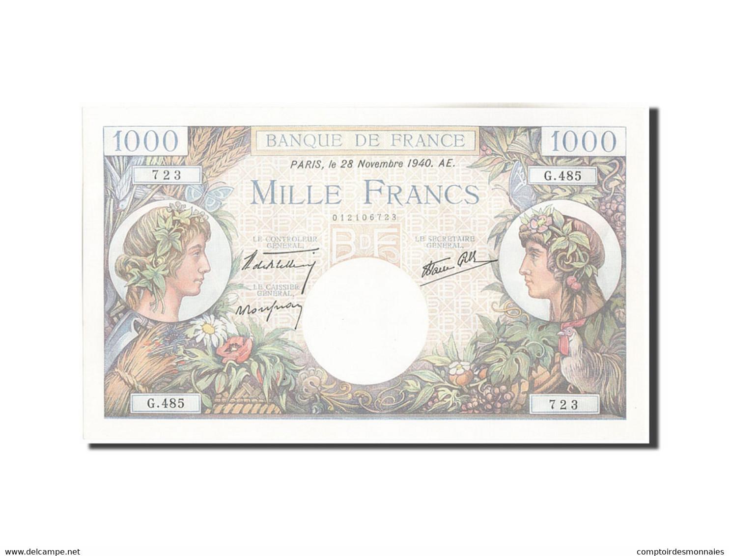 France, 1000 Francs, 1 000 F 1940-1944 ''Commerce Et Industrie'', 1940, 1940-... - 1871-1952 Frühe Francs Des 20. Jh.
