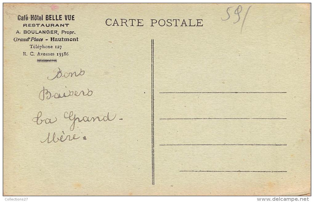 """59-HAUTMONT- RESTAURANT CAFE HÔTEL """" BELLE VUE """" - France"""