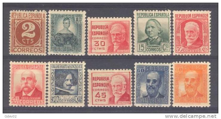 ES731-3549TCSC.España.Spain  .Espagne. CIFRA Y PERSONAJES 1936/38 (Ed 731/40**) Sin Charnela,. MAGNIFICA - Sin Clasificación
