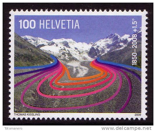 SWITZERLAND/Schweiz 2009 - IPY Global Warming, Preserve The Polar Regions And Glaciers, 1v** - Preservare Le Regioni Polari E Ghiacciai