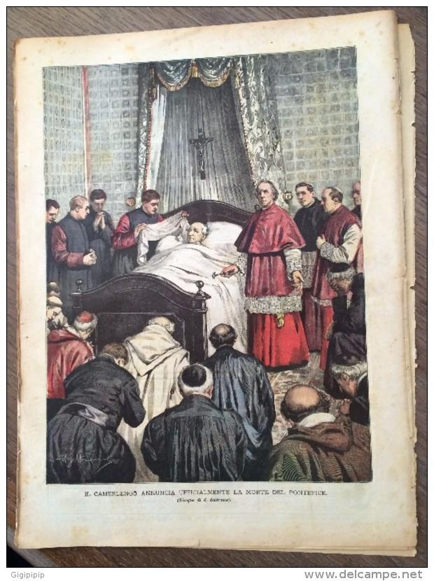 REVUE DOMENICA DEL CORRIERE ANNO 5 N° 30 26/7/1903 MORTE DI LEONE 13 PAPA PONTEFICE  VATICANO VATICAN - Livres, BD, Revues
