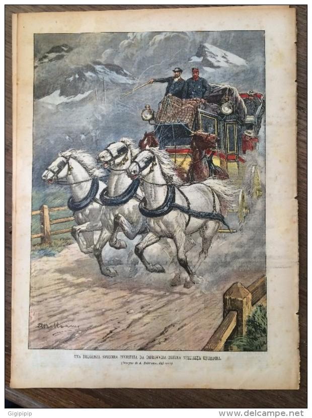 REVUE DOMENICA DEL CORRIERE ANNO 5 N° 29 19/7/1903 VISITA PASTORALE IN AUTOMOBILE ELETTRICO DILIGENZA SVIZZERA - Livres, BD, Revues