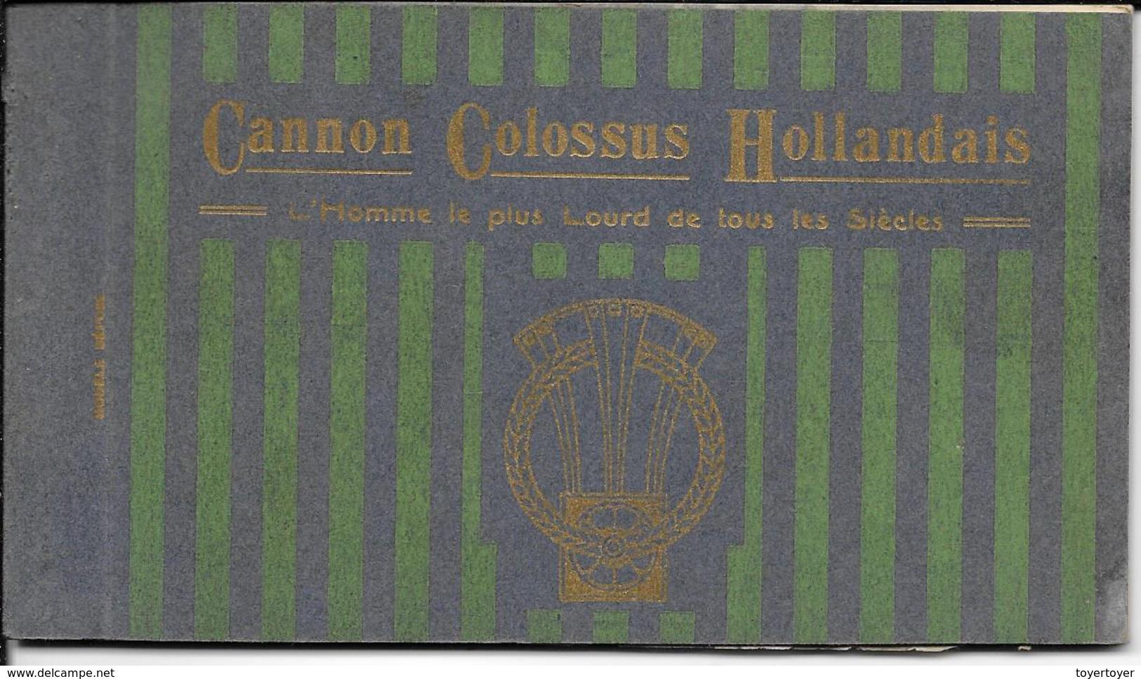 CP 86  Cannon L'Homme Le Plus Lourd Du Monde 7 CP Reliées Neuves - Ohne Zuordnung
