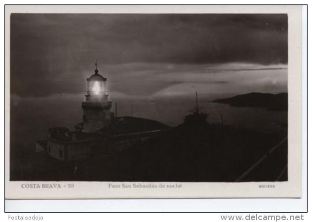 (CPA1625) FARO DE SAN SEBASTIAN DE NOCHE. PHARE . LIGHTHOUSE .. UNUSED - Gerona