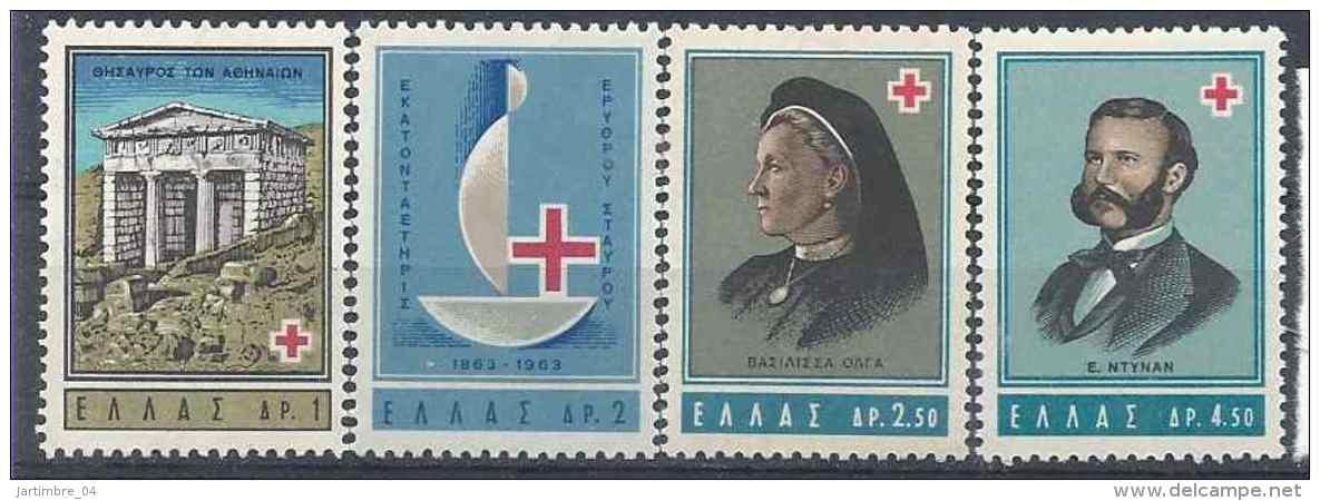 1963 GRECE 801-04** Croix-rouge - Greece
