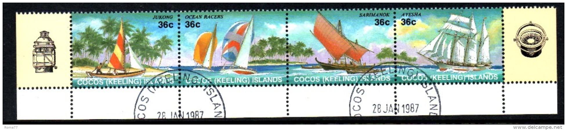 BIG - COCOS , Serie Completa Usata N. 156/159 - Isole Cocos (Keeling)