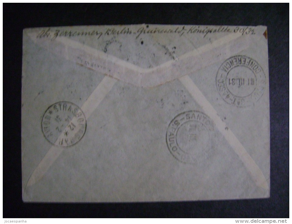 AEROPOSTALE - LETTER SENT TO BERLIN (GERMANY) TO SAO PAULO (BRAZIL), AS - Post