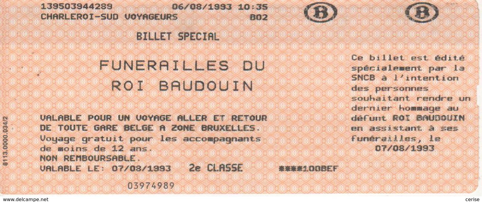 Funérailles Du Roi Baudouin - Europe