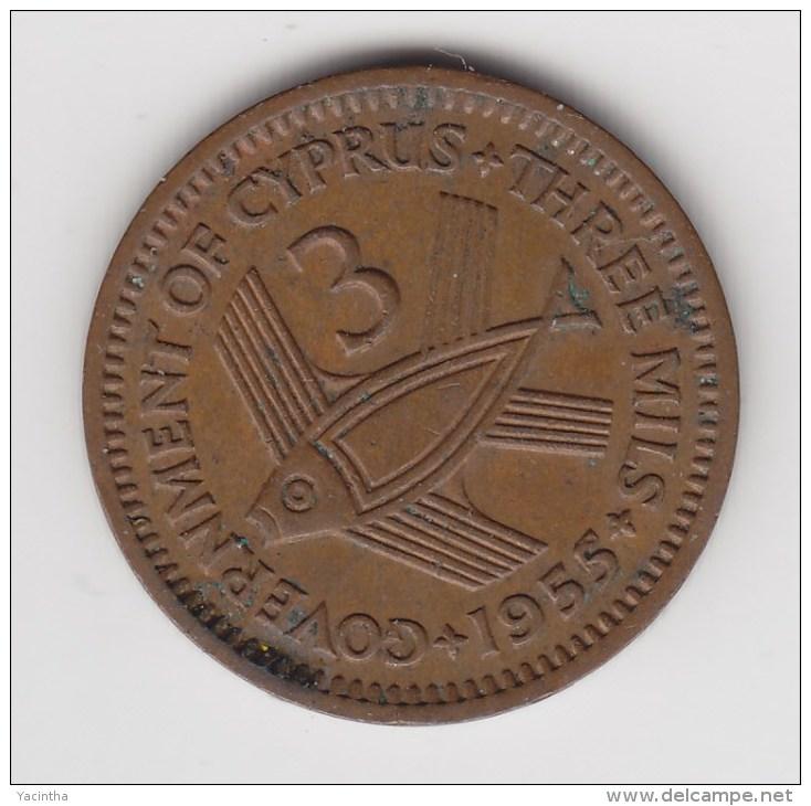 @Y@    Cyprus   3  Mills    1955    (3095) - Chypre