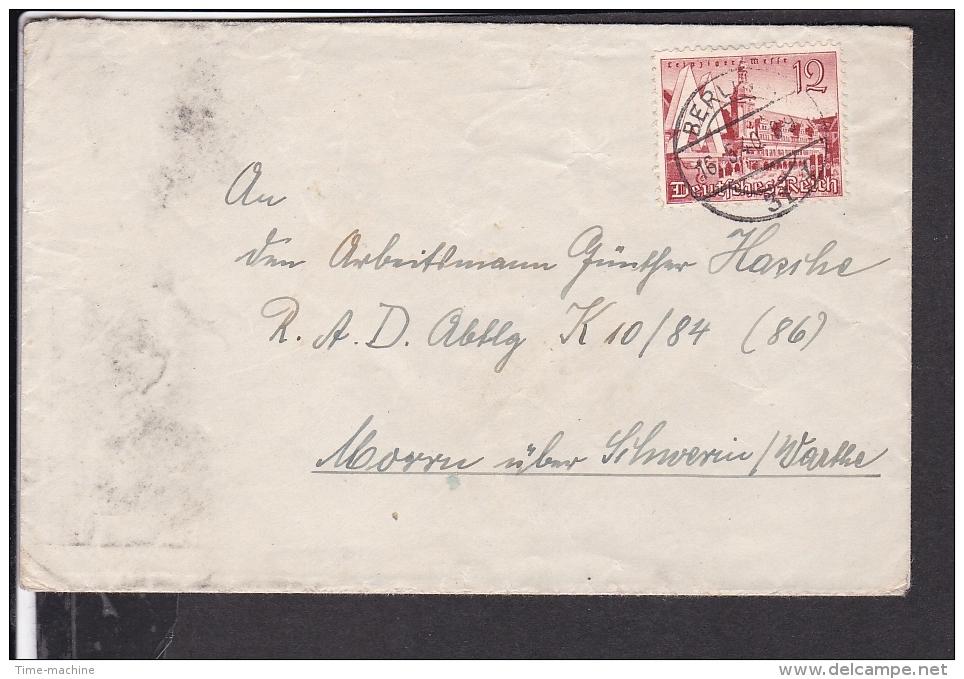Deutsches Reich Brief Stempel Berlin 1940 - Briefe U. Dokumente
