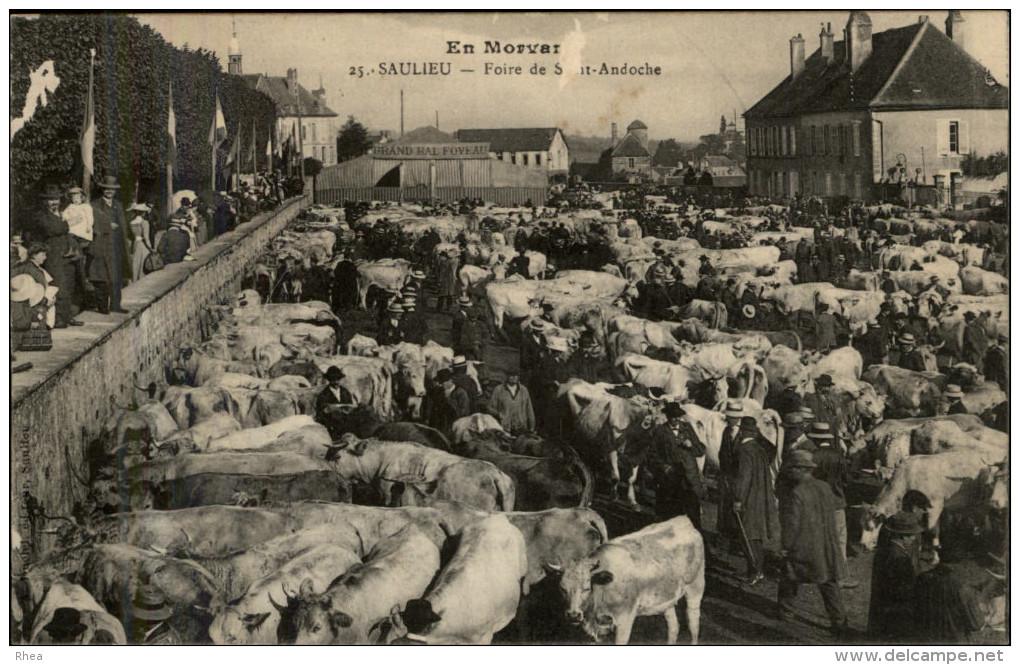 21 - SAULIEU - Foire De Saint-Andoche - Foire Aux Bestiaux - Saulieu