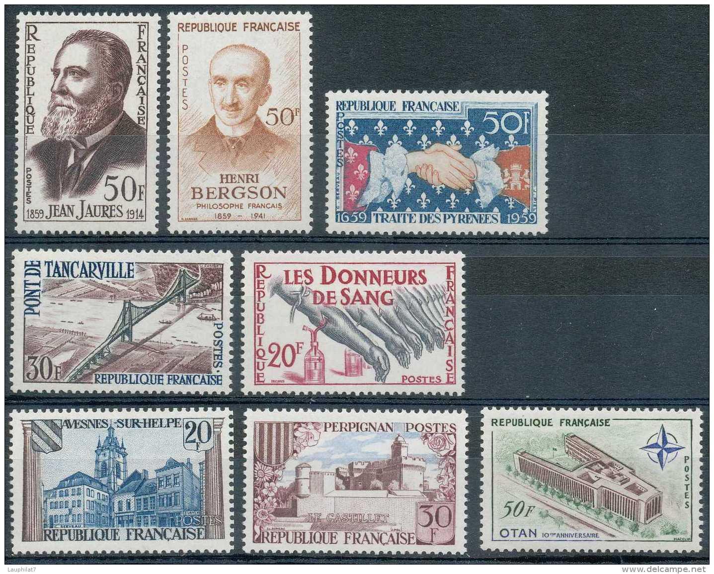 France 1959, Petit Lot De Timbres **/mnh - Ongebruikt
