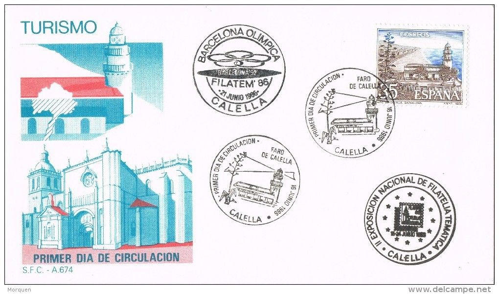 19326. Carta Exposicion CALELLA (Barcelona) 1986. Filatem 86. Turismo - 1931-Hoy: 2ª República - ... Juan Carlos I