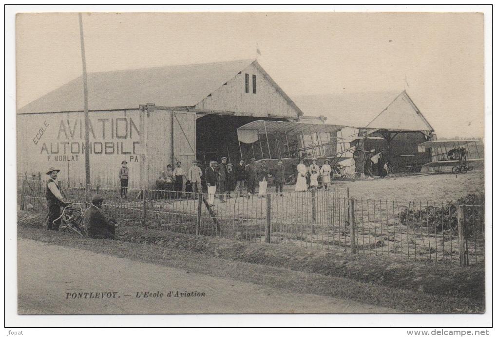 41 LOIR ET CHER - PONTLEVOY L'Ecole D'Aviation (voir Descriptif) - Francia