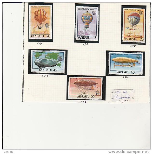 VANUATU - TMBRES N° 676 A 681  - ANNEE 1983 - Vanuatu (1980-...)