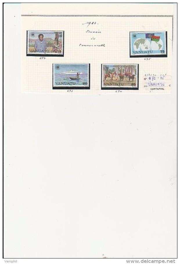 VANUATU - TMBRES N° 672 A 675 - ANNEE 1983 - Vanuatu (1980-...)