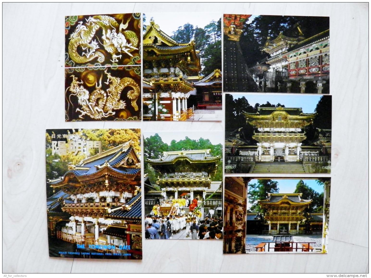 Set Of 6 Post Cards In Folder From Japan The Yomeimon Gate National Park Nikko - Japon