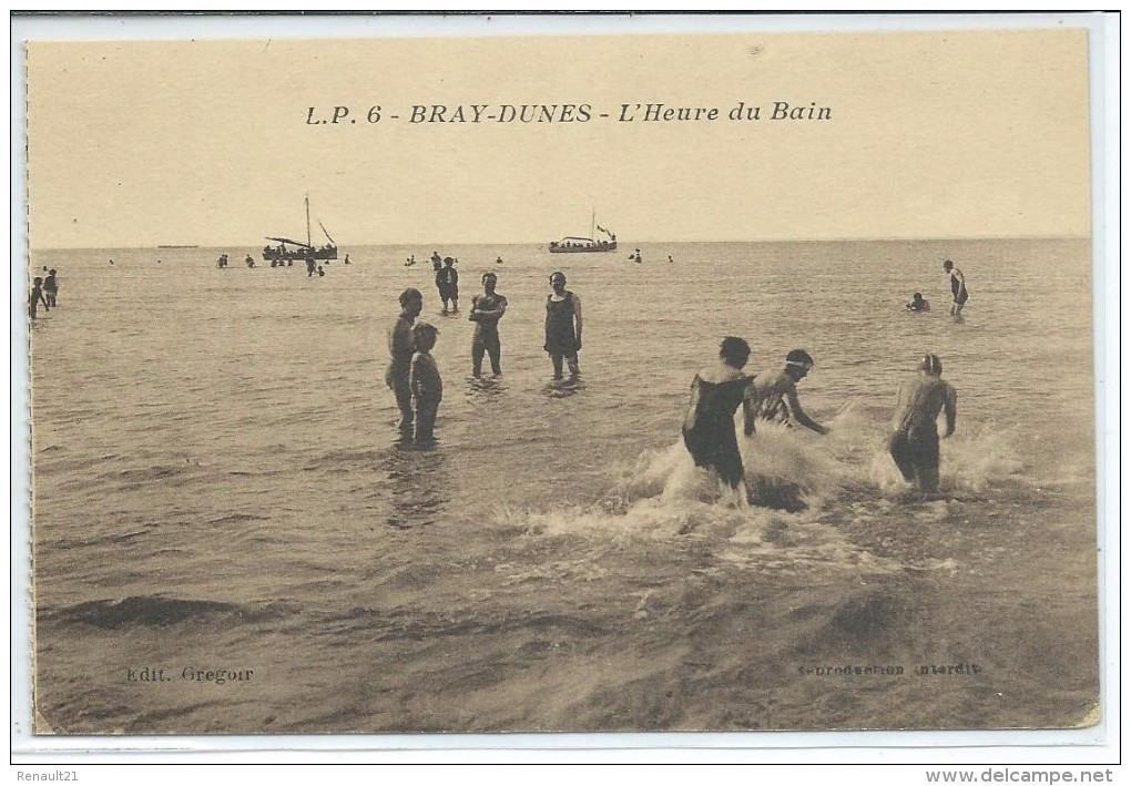Bray-Dunes-L'Heure Du Bain-(SÉPIA) - Bray-Dunes