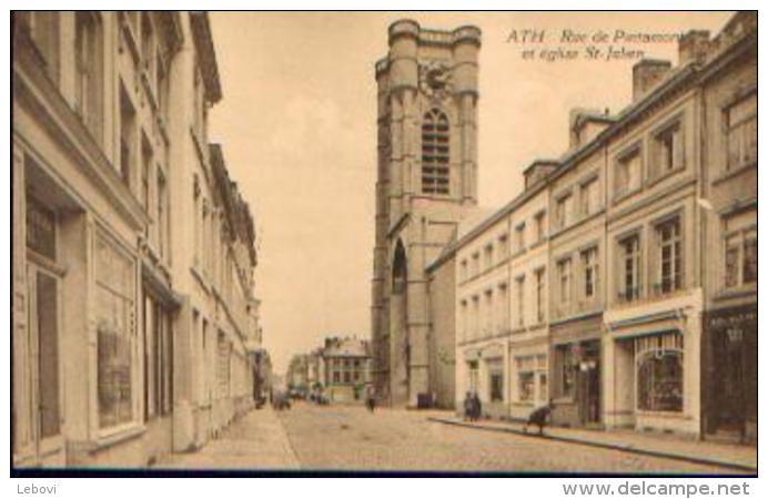 ATH « Rue De Pintamont Et église St-Julien » - Ed. Ve Huart Et Fils, Ath - Ath