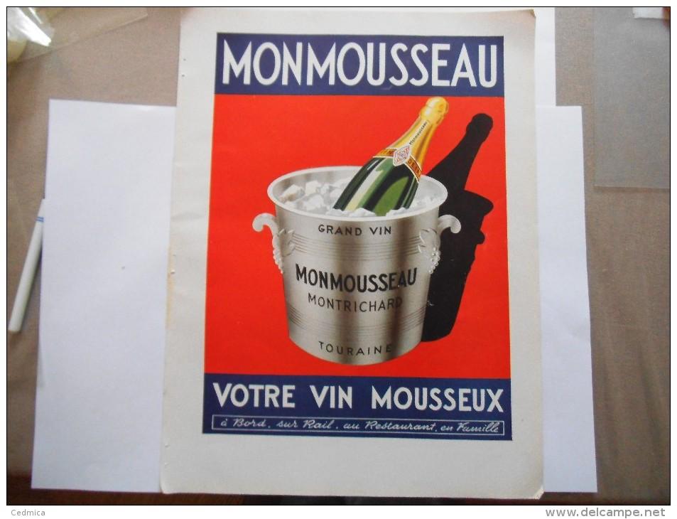 MONMOUSSEAU MONTRICHARD TOURAINE VOTRE VIN MOUSSEUX - Publicités