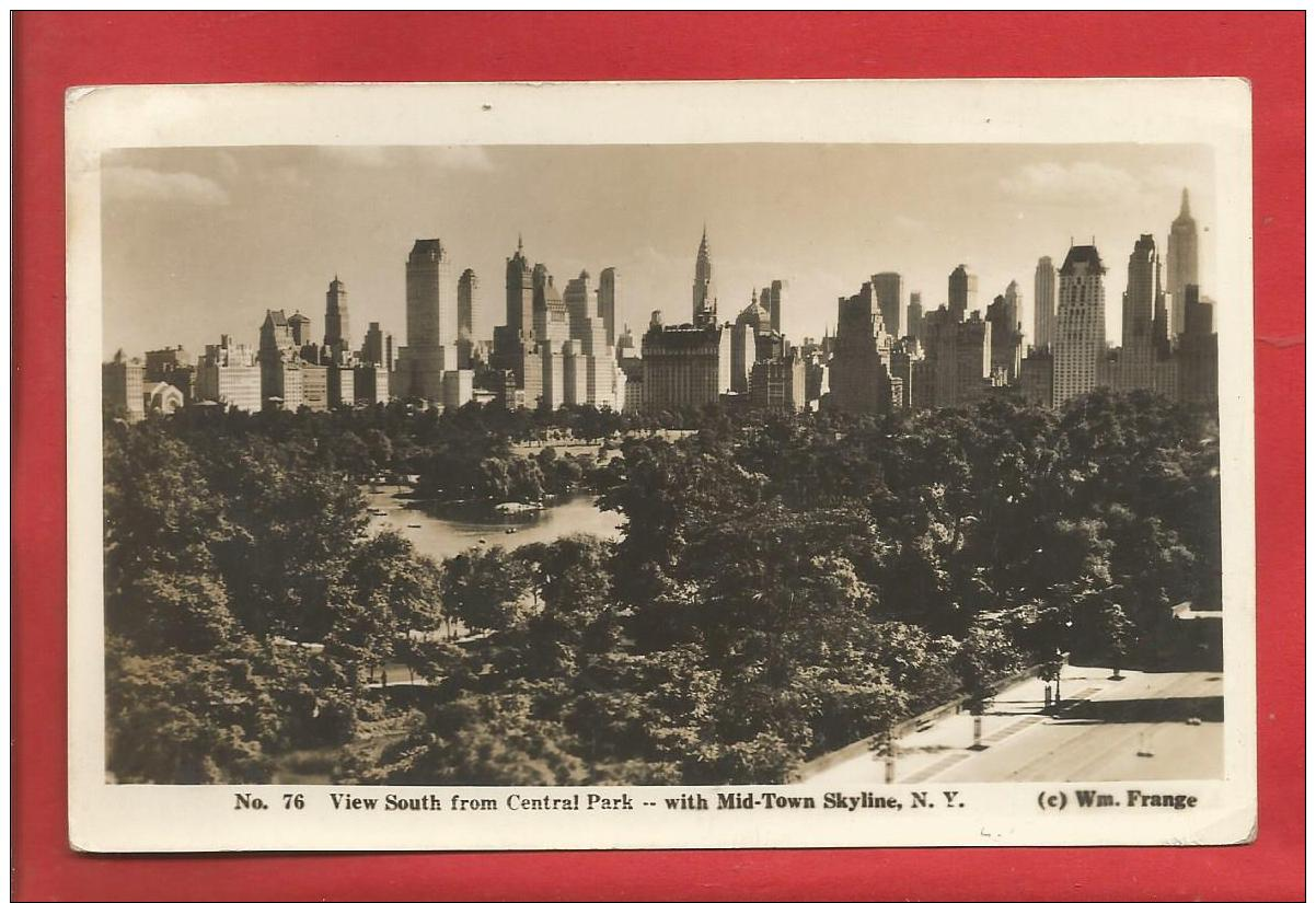 U S A  -  NEW YORK - View South From Central Park With Mid-Town Skyline   - 2 Scans - Manhattan