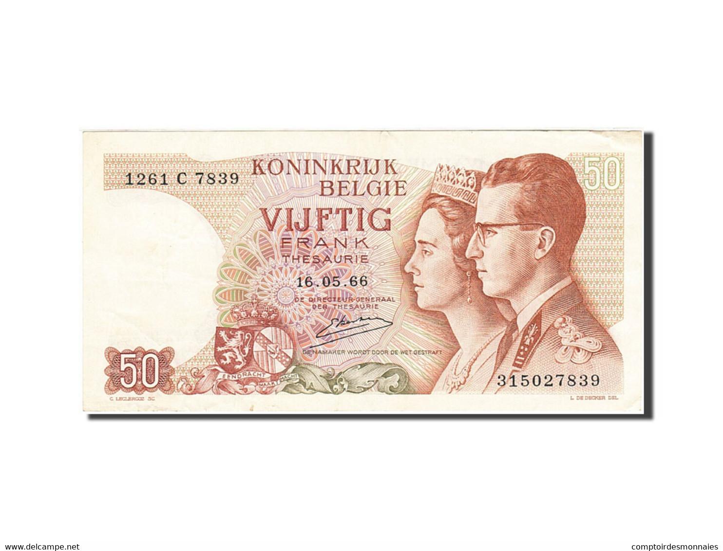 Belgique, 50 Francs, 1966, KM:139, 1966-05-16, TTB - [ 6] Staatskas