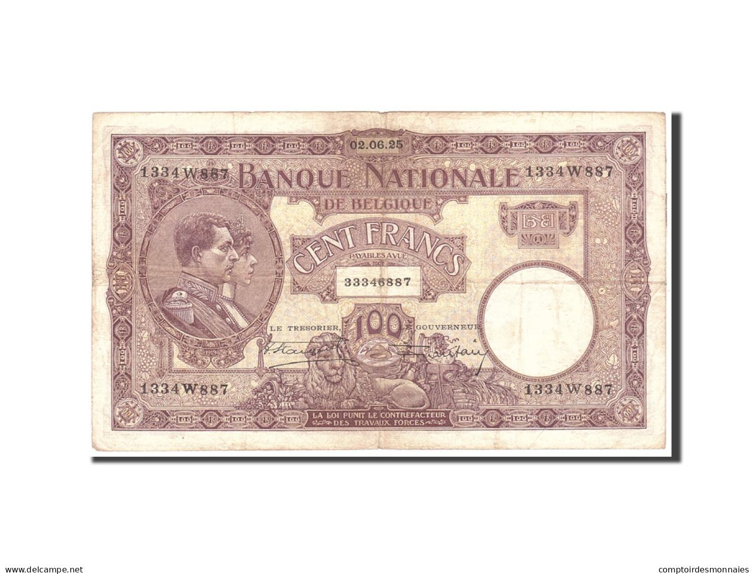 Belgique, 100 Francs, 1925, KM:95, 1925-06-02, TB+ - [ 2] 1831-... : Royaume De Belgique