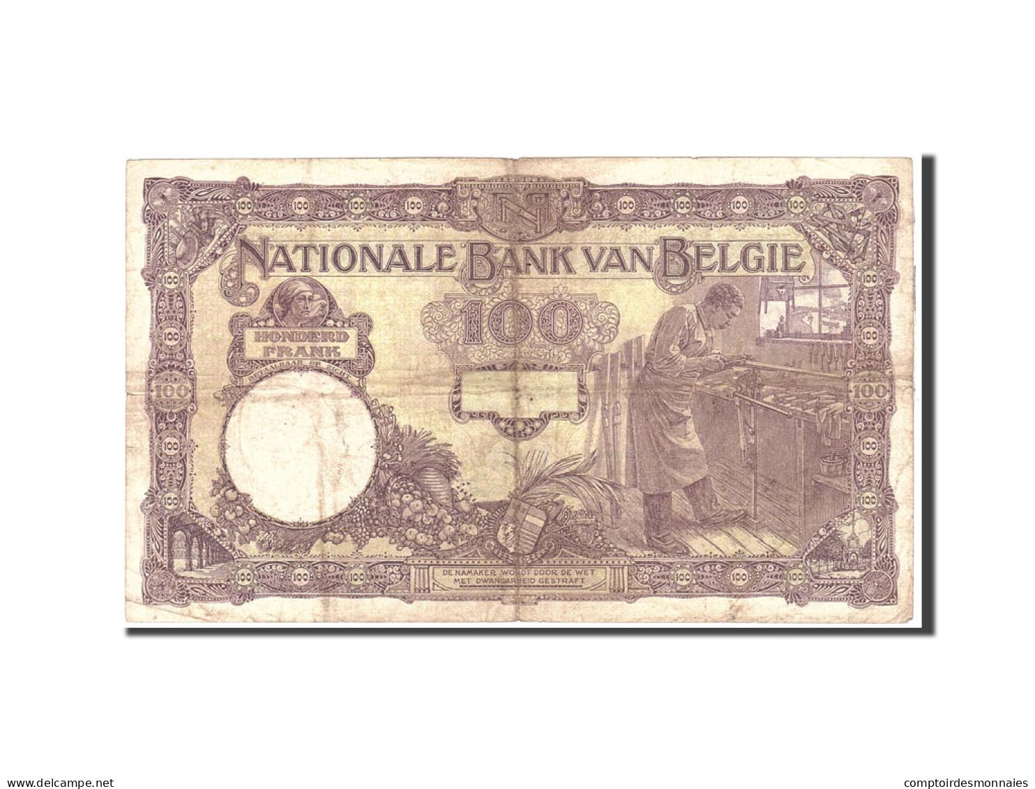 Belgique, 100 Francs, 1925, KM:95, 1925-06-02, TB+ - [ 2] 1831-... : Regno Del Belgio