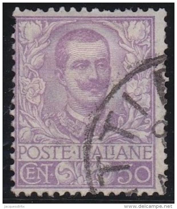 Italy     .   Yvert     72            .        O               .           Cancelled - 1900-44 Victor Emmanuel III