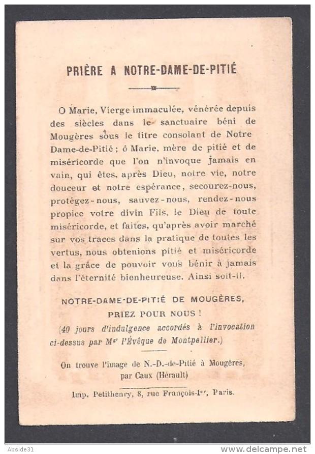 Souvenir Du Pélerinage De Notre Dame De Mougères  ( Hérault )  - 2 Scans - Images Religieuses