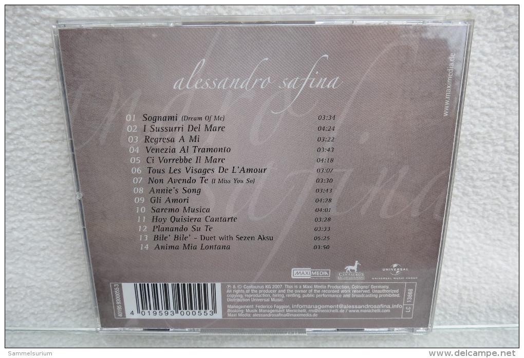 """CD """"Alessandro Safina"""" Sognami - Oper & Operette"""