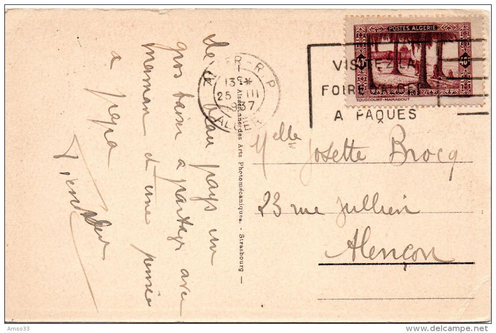 7971. CPA ALGERIE. FILLETTES MAURESQUES. 1937 - Algérie