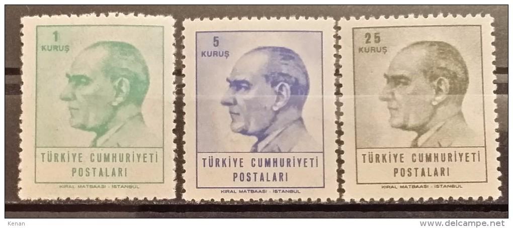 Turkey, 1965, Mi: 1955/57 (MNH) - 1921-... Republic