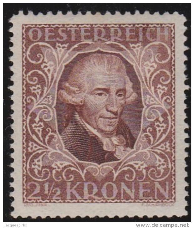 Osterreich         .   Yvert      290           .      *          .        Ungebraucht - 1918-1945 1ste Republiek