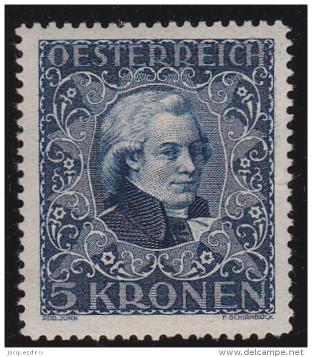 Osterreich         .   Yvert      291           .      *          .        Ungebraucht - 1918-1945 1ste Republiek