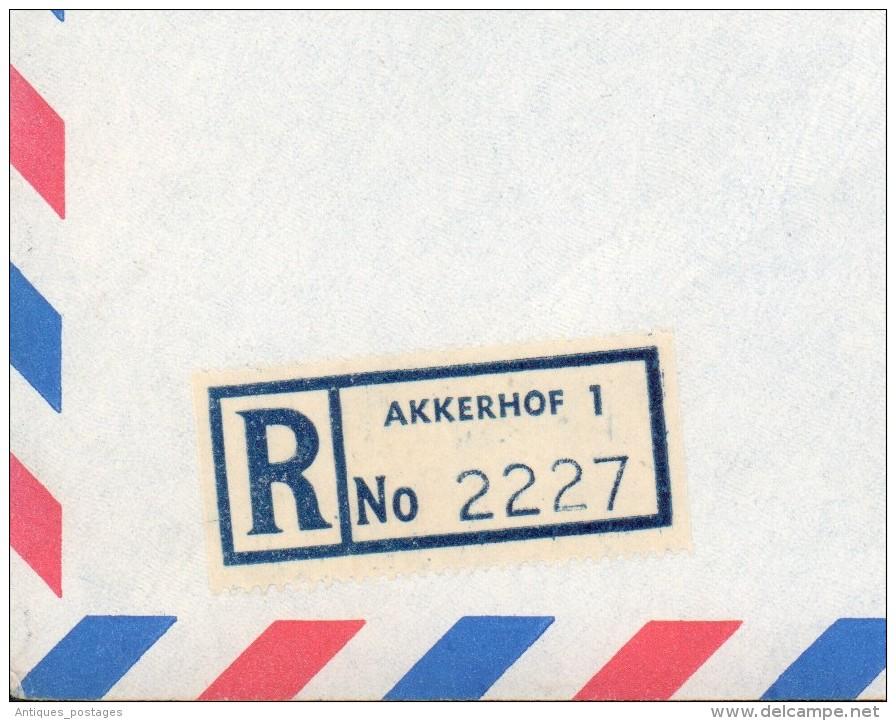 Lettre Afrique Du Sud South Africa 1967 Recommandé Register Letter Akkerhof Suisse Schweiz Bern - Afrique Du Sud (1961-...)