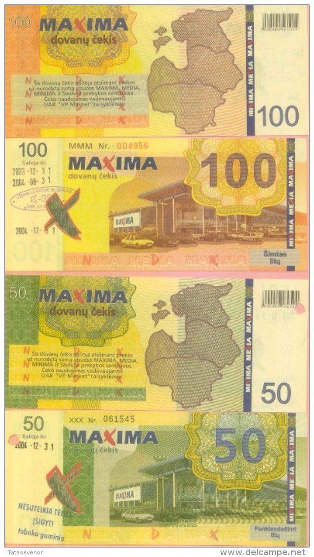Lithuania Local MAXIMA Supermarket Currency Set - Lituanie