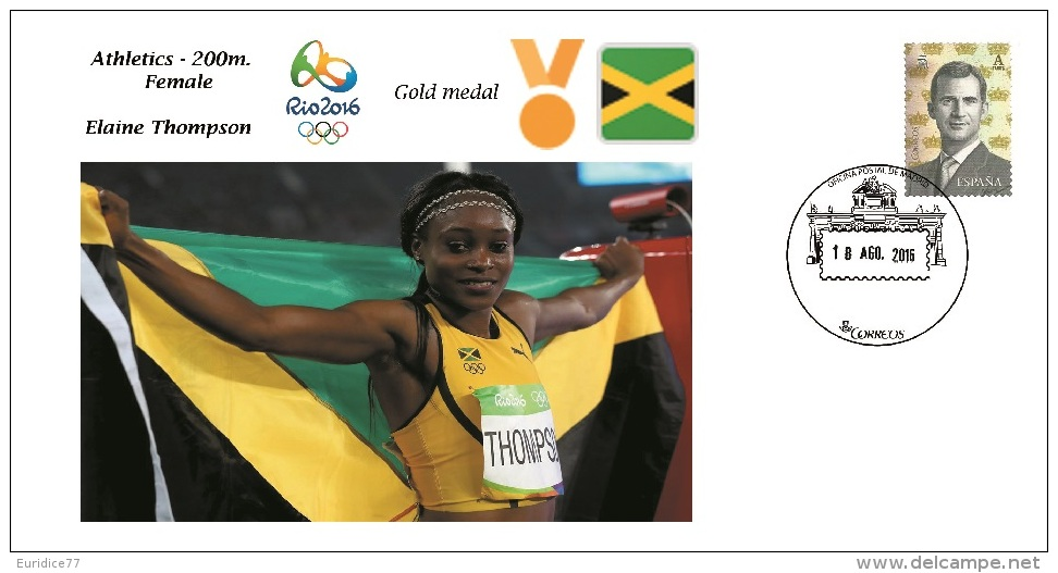 Spain 2016 - Olympic Games Rio 2016 - Gold Medal Athletics Female Jamaica Cover - Otros
