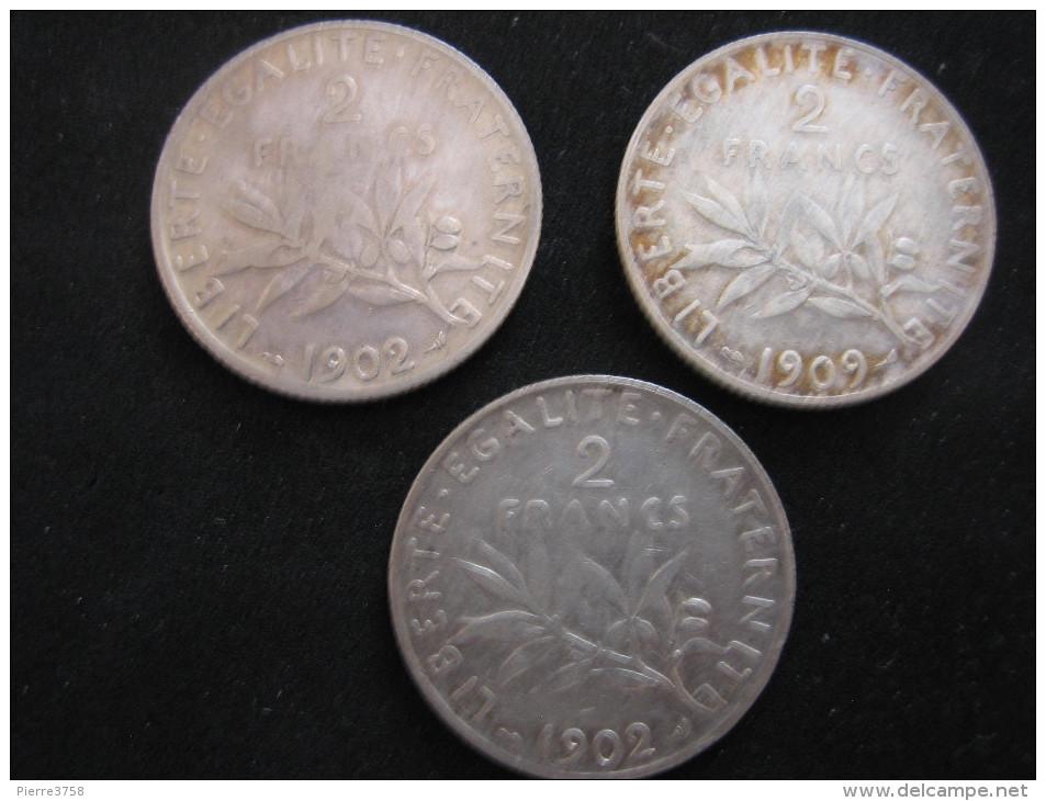 2 Francs 1902 (2 Piéces) 1909 (1 Piéce) - Frankreich