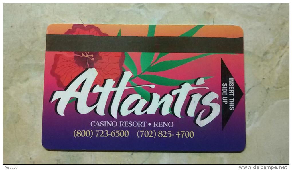 Las Vegas Casino Card, Atlantis, Reno - Casinokarten