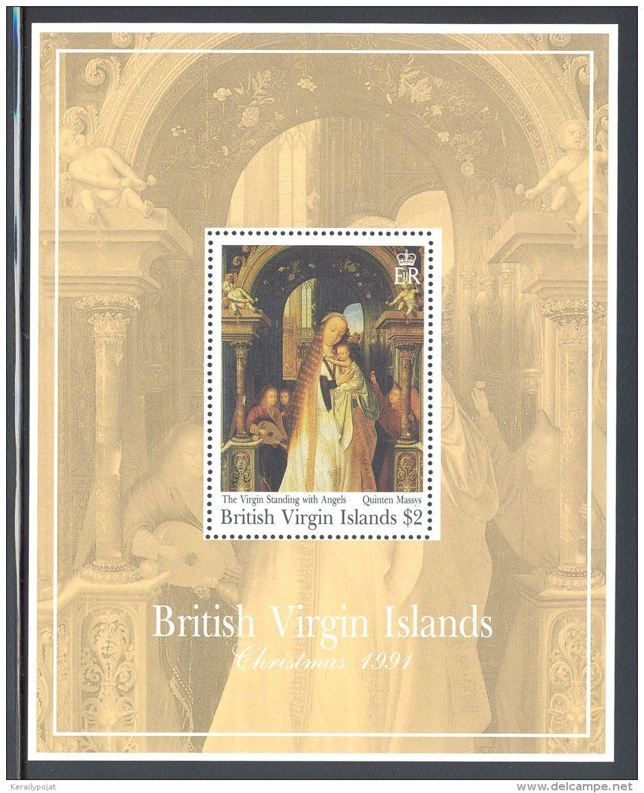 British Virgin Islands - 1991 Christmas Block (1) MNH__(THB-5634) - British Virgin Islands